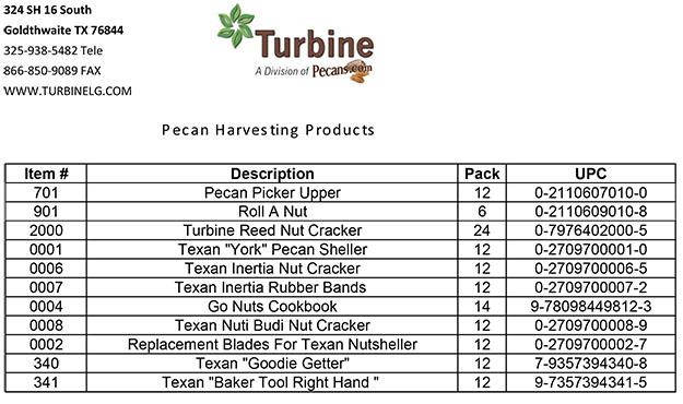 Pecan Harvesting Items | Turbine Lawn and Garden