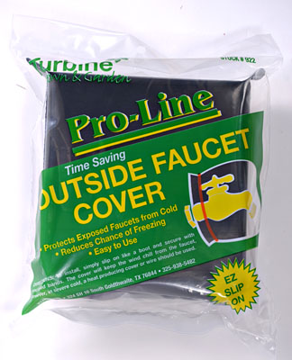 Outside Faucet Cover Item #922-60 – Protects exposed faucets from the cold. Reduces the chance of freezing. Easy to use. Case Qty: 60